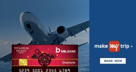 Makemytrip RBL Bank Credit Card Offer : Get Rs.1200 Instant Discount on Domestic Flights
