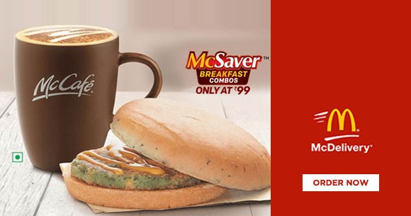 Hot Deal : Get McSaver Breakfast Combos At Just Rs. 99