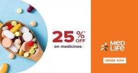 Medlife Get Upto 25% Off on Medicines
