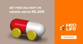 Medlife Get Free Delivery on Orders Above Rs. 200