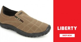 Liberty shoes Mega Deal : Upto 40% Off on Casual Men's Footwear