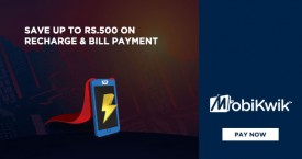 Mobikwik Mobikwik Offer : Save Upto Rs. 500 on Recharge And Bill Payments