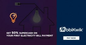 Mobikwik Mobikwik Electricity Offer : Get 50% Supercash on First Electricity Bill Payment