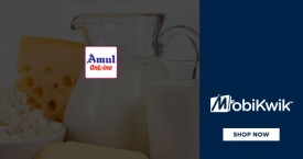 Mobikwik Amul Online Offer: Get Flat 10% Supercash on Amul Products