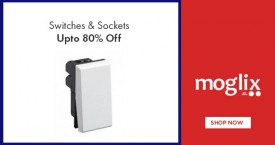 Moglix Mega Offer : Switches & Sockets Upto 80% Off