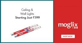 Moglix Hot Deal : Ceiling & Wall Lights Starting at Rs.199