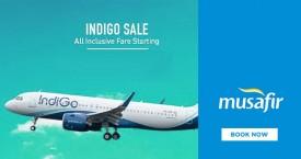 Musafir Indigo Sale - Domestic Flight Fares Starts From Rs. 999