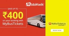 Mybustickets Mobikwik Offer : Get Rs.75 Discount + Rs.75 Cashback + Rs.250 Supercash