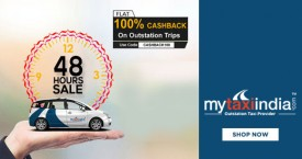Mytaxiindia MTI Offer : Get Flat 100% Cashback on Outstation Trips