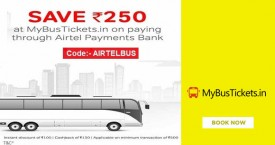 Mybustickets Airtel Payments Bank Offer : Save Rs.250 At MBT Through Airtel Payments Bank