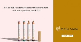 Myglamm Hot Deal : Free Powder Eyeshadow Stick With Every Purchase Over Rs. 1599