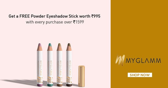 Hot Deal : Free Powder Eyeshadow Stick With Every Purchase Over Rs. 1599