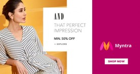 Myntra Min 50% OFF on AND