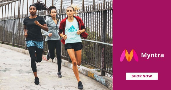 Myntra Deal : Adidas Sports Shoes, Tshirts, Casual Shoes & More Upto 50% OFF