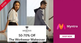 Myntra Hot Deal : 50% - 70% OFF on Invictus Men's Workwear