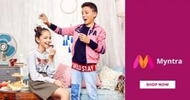 Myntra Kids Winter Wear Sale : Upto 50% OFF on Hoodies, Puffer Jackets, Bombers & More