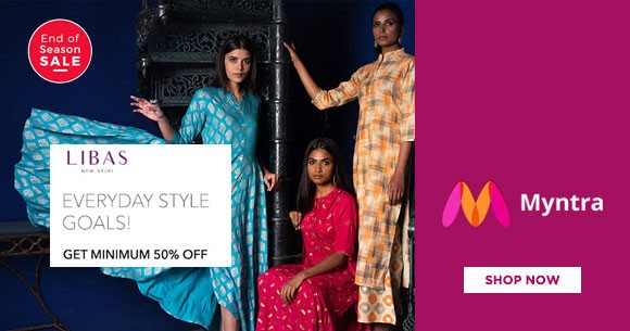 a63c9c3f51 Special Offer - Myntra Offer : Get Min 50% OFF on Libas Women's Clothing