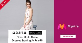 Myntra Best Price : Sassafras, Tokyo Talkies Dresses Starting From Rs. 699