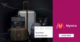 Myntra Hot Deal : Upto 50% OFF on Backpacks, Belts, Wallets & More