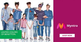 Myntra Myntra Offer : 30% - 50% OFF on United Colors Of Benetton Clothing, Footwear And Accessories