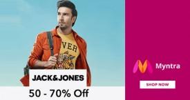 Myntra Myntra Sale: Upto 50% - 70% OFF on Jack & Jones