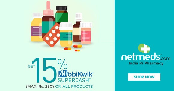 Mobikwik Offer : Get 15% Supercash Upto Rs.250 on All Products