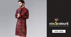 Ninecolours Great Deal : Upto 40% Off on  Men's kurthas