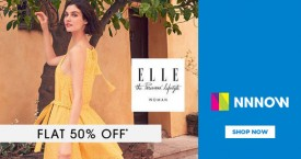Nnnow Flat 50% OFF on ELLE
