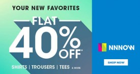 Nnnow Best Offers On Shirts, Trousers, Tees