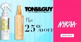 Nykaa Flat 25% OFF on Toni & Guy