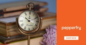 Pepperfry Best Deal : Upto 50% OFF on Wall Clocks