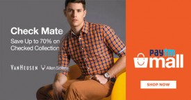 Paytmmall Paytm Mall Offer : Get Upto 70% OFF on Men's Shirt Check Collection
