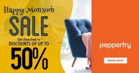 Pepperfry New Customer Offer - Upto 50% OFF on Orders Above Rs. 999