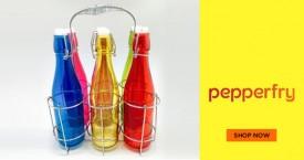 Pepperfry Upto 60% Off on Bottles.