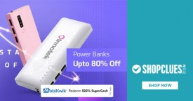 Shopclues Amazing Offer : Upto 80% OFF on Power Banks At Shopclues