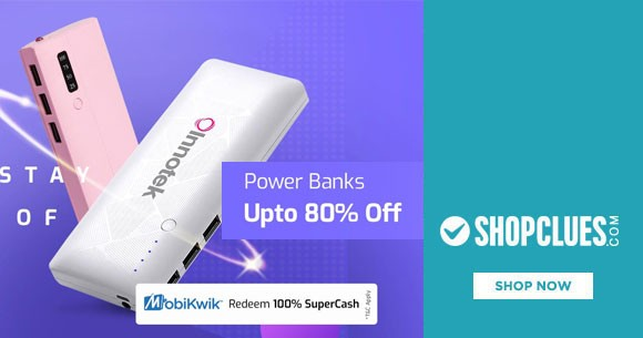 Amazing Offer : Upto 80% OFF on Power Banks At Shopclues