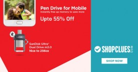 Shopclues Shopclues Offer : Sandisk Pendrive Upto 55% OFF