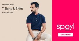 Spoyl Mega Offer : T-Shirts & Shirts Starting at Rs. 180