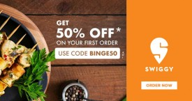 Swiggy Get 50% OFF on Your First Order