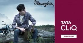 Tatacliq Special Deal : Upto 45% OFF on Wrangler Men's Clothing