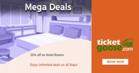 Ticketgoose Mega Deal : Get 25% OFF on Hotel Rooms