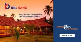 Travelguru RBL Bank Offers - Flat 20% OFF on Hotels