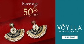 Voylla Great Deals : Upto 50% OFF on Earrings (Designer Studs, Dangler & More)