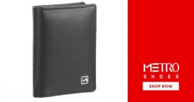 Metroshoes Special Offer : Men's Wallets Starting at Rs. 290