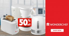Wonderchef Small Home Appliances Offer : Upto 50% Off on Toasters, Juicers, Coffee Maker etc.