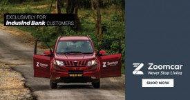 Zoomcar Get 20% OFF Exclusively For Induslnd Customers