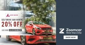 Zoomcar 20% OFF on Self Drive Rental Cars