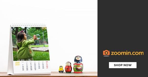 Zoomin Offer : Get Flat 25% Discount on All Photo Calendars