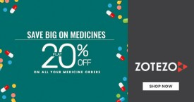 Zotezo Hot Deal : Get Upto 20% OFF on Medicines