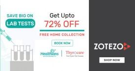 Zotezo Zotezo Offer : Save Upto 72% OFF on Lab Tests